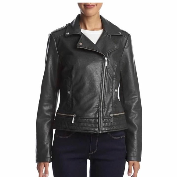 805bc3b3cc9b Bernardo Women s Faux Leather Moto Jacket